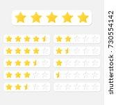star rating system. vector... | Shutterstock .eps vector #730554142