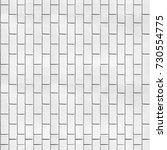 white brick texture  | Shutterstock . vector #730554775