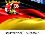 Flag of Rhineland-Palatinate - stock photo