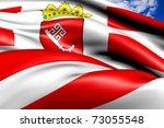 Flag of Bremen - stock photo