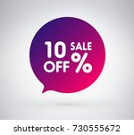 10  offer label sticker  sale... | Shutterstock .eps vector #730555672