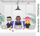 teamwork  vector illustration.... | Shutterstock .eps vector #730556416