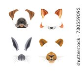 animal face video chat or... | Shutterstock .eps vector #730559092