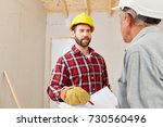 renovation planning with... | Shutterstock . vector #730560496