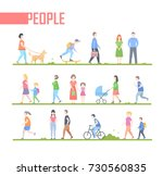 people   set of vector cartoon... | Shutterstock .eps vector #730560835