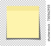 office yellow paper sticky note ... | Shutterstock .eps vector #730562935
