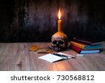 Candle Lighting Of Skull With...