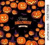 banner with pumpkins for... | Shutterstock .eps vector #730570048