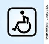 disabled line icon | Shutterstock .eps vector #730579522