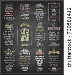 kids menu chalkboard designs... | Shutterstock .eps vector #730581412