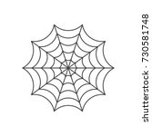 spider web icon | Shutterstock .eps vector #730581748