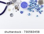 jewelry making and beading.... | Shutterstock . vector #730583458