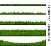 green grass border big... | Shutterstock .eps vector #730588768