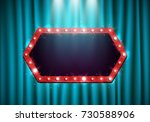 shining retro neon billboard... | Shutterstock .eps vector #730588906