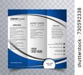 modern trifold brochure | Shutterstock .eps vector #730592338