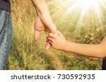 beautiful hands outdoors in a... | Shutterstock . vector #730592935