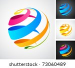 global connection abstract icons | Shutterstock .eps vector #73060489