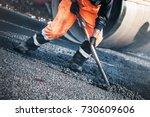 road construction worker | Shutterstock . vector #730609606