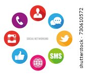 icons of social network over... | Shutterstock .eps vector #730610572