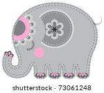 elephant. cute animal character ...