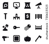 16 vector icon set   search... | Shutterstock .eps vector #730615525