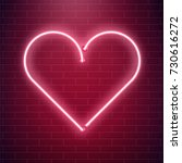 Neon Heart Sign. Red...