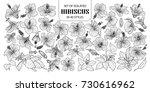 set of isolated hibiscus in 40... | Shutterstock .eps vector #730616962