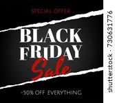 black friday banner with ripped ... | Shutterstock .eps vector #730631776