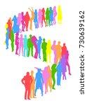 many people illustration    Shutterstock .eps vector #730639162
