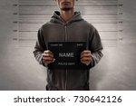 mugshot of criminal | Shutterstock . vector #730642126