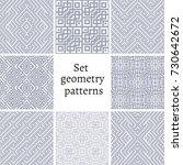 set of ornamental patterns for... | Shutterstock .eps vector #730642672
