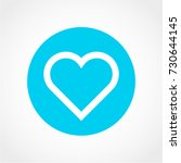 heart icon isolated on white...