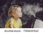 little baby looks at the... | Shutterstock . vector #730644562