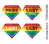 diamond lgbt pride rainbow... | Shutterstock .eps vector #730646086