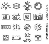 vector computer chips icons set.... | Shutterstock .eps vector #730646278