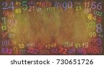 numerology numbers border... | Shutterstock . vector #730651726