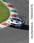 Small photo of Mugello Circuit, Italy - 7 October, 2017: BMW M6 GT3 of BMW Italia Team, driven by A. Cerqui and S. Comandini during Race #1 of the final round of C.I. Gran Turismo Super GT3-GT3 in Mugello Circuit.