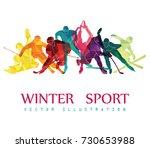 color sport background. hockey  ... | Shutterstock .eps vector #730653988