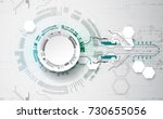 vector illustration  hi tech... | Shutterstock .eps vector #730655056