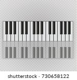 musical instrument. key piano ... | Shutterstock .eps vector #730658122