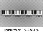 musical instrument. key piano ... | Shutterstock .eps vector #730658176