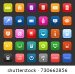 electronics icons | Shutterstock .eps vector #730662856