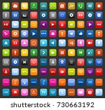 media icons | Shutterstock .eps vector #730663192