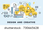 vector illustration of set of... | Shutterstock .eps vector #730665628
