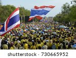 tousends of thai people at the... | Shutterstock . vector #730665952