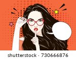 pop art vintage advertising...   Shutterstock .eps vector #730666876