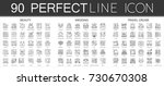 90 outline mini concept... | Shutterstock .eps vector #730670308