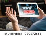 losing money in online casino.... | Shutterstock . vector #730672666