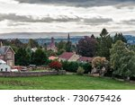 looking over the scottish town... | Shutterstock . vector #730675426