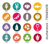 allergens icons | Shutterstock .eps vector #730683658